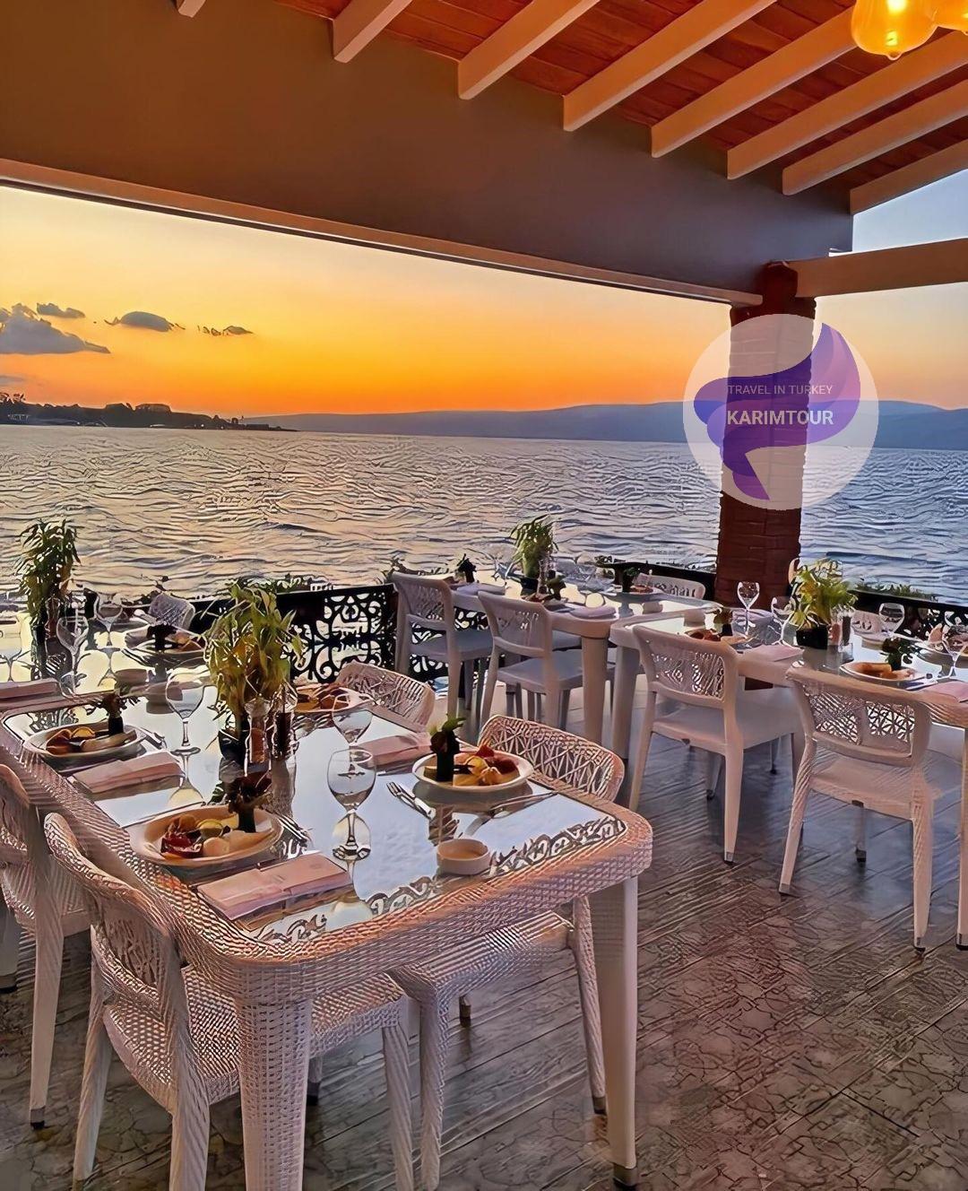 مطاعم مطلة على بحيرة سبانجا
