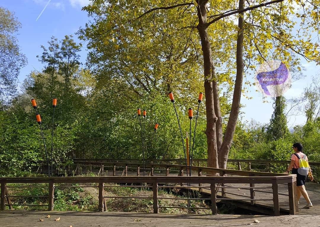 ممشى في منتزهات سبانجا