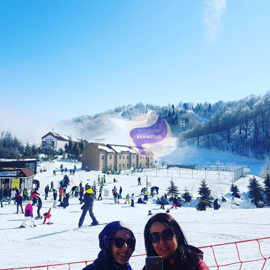جبل كارتبه في فصل الشتاء