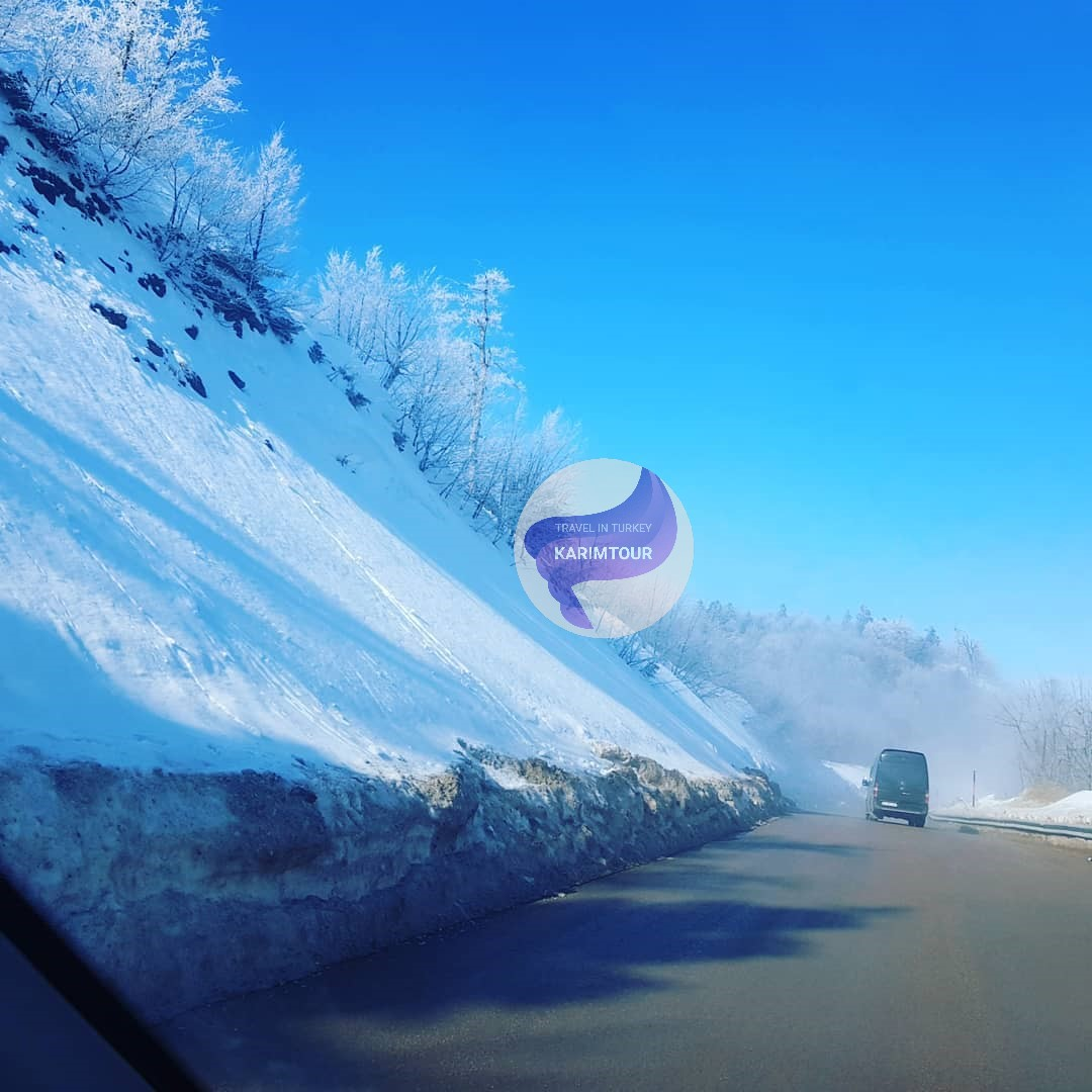 الطريق الى جبل كارتبه المثلج