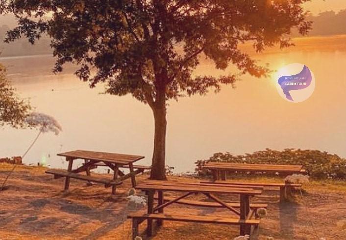 اماكن جلوس امام بحيرة سبانجه