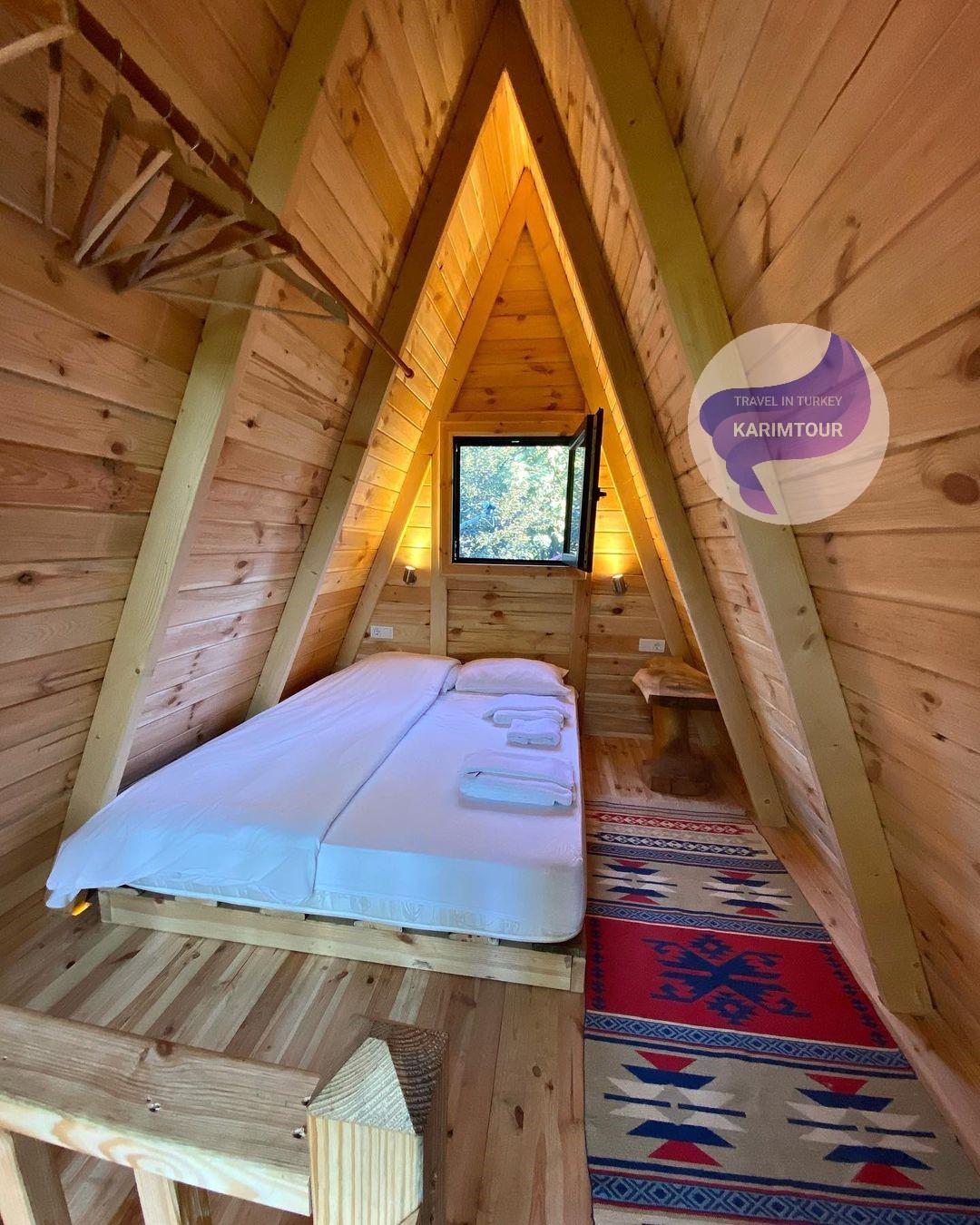 غرفة النوم في الكوخ بسبانجا